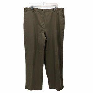 L.L. Bean Womens Dress Career Pants Beige Plus 18W